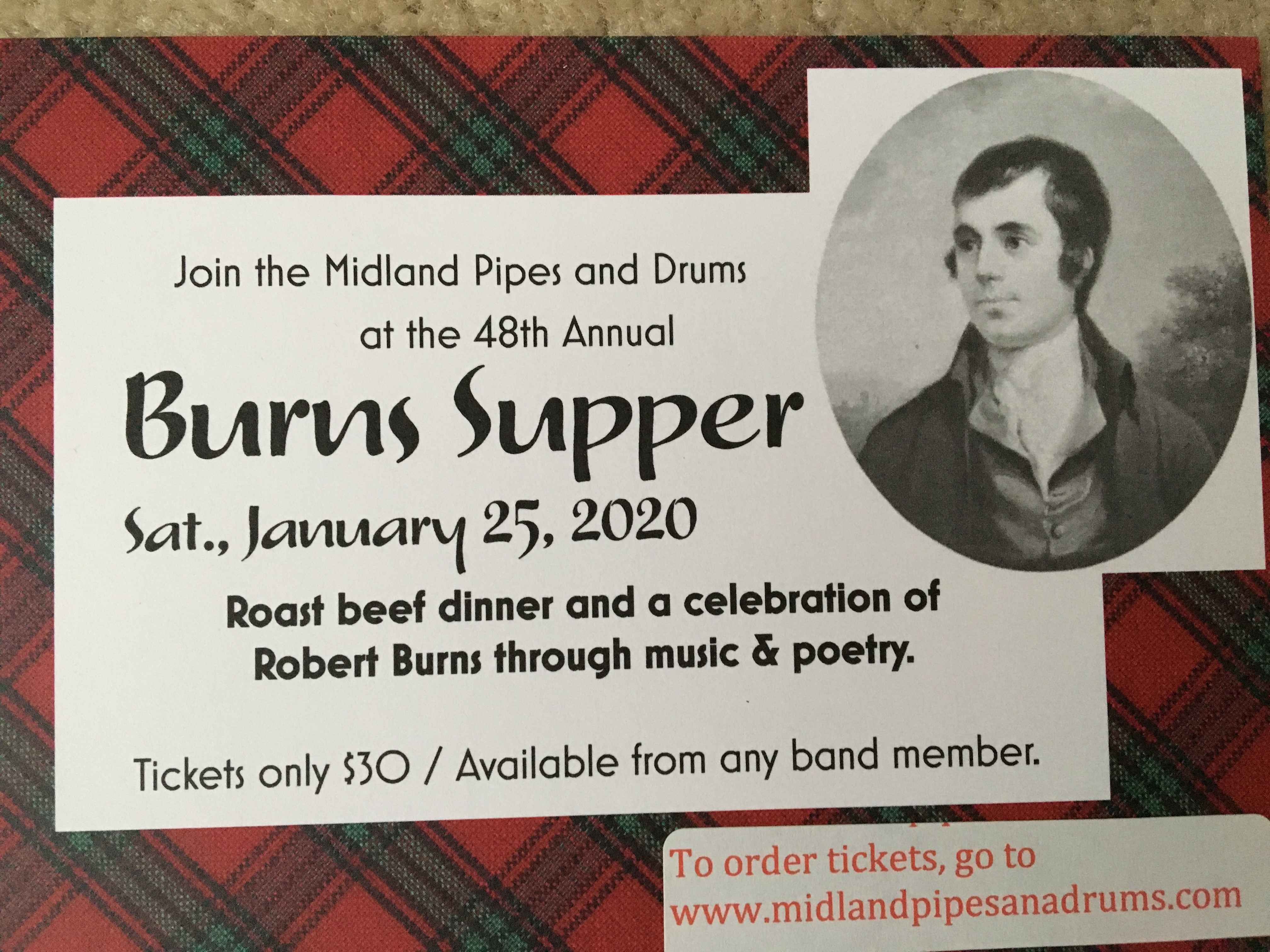 48th Annual Burns Supper